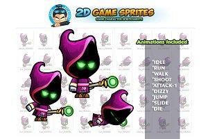Evil Mage 2D Game Sprites
