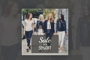 50% Off  Sale Instagram Banner