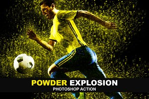Powder Explosion Photoshop Action