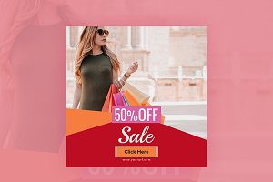 50% Off Sale Banner