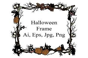 Halloween Vector frame