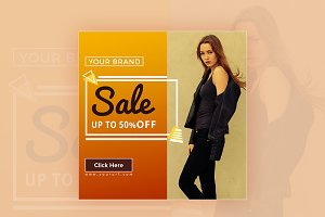 Sale 50% Off Banner