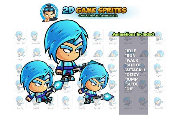 Ice Mage Game Sprites