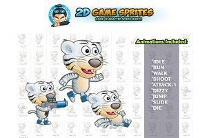 White Tiger 2D Game Sprites