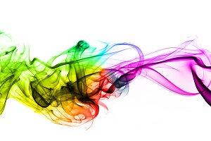Colorful creative smoke waves