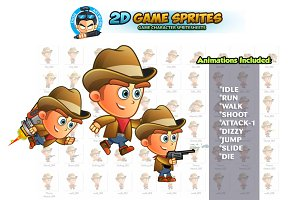 CowBoy 2D Game Sprites