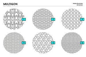 MULTIGON   30 seamless patterns