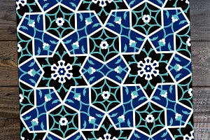 Arabic Floral Seamless Pattern.