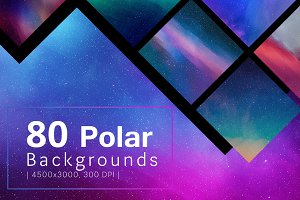 80 Polar Backgrounds