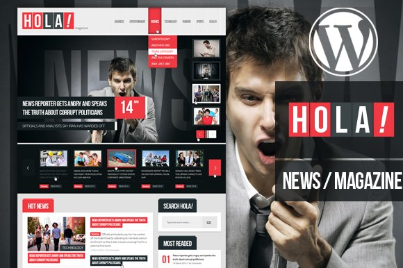 Hola News/Magazine Wordpress