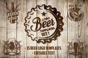 Beer logo templates