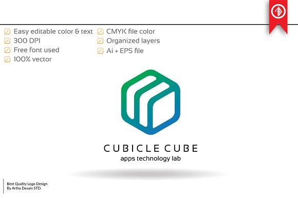 cube technology logo template logo templates creative market