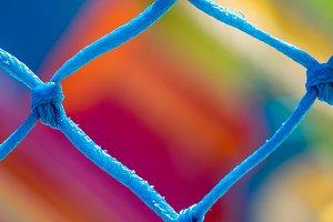 Blue net close up