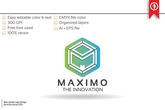 cube letter m logo template logo templates creative market