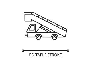 Stair truck linear icon