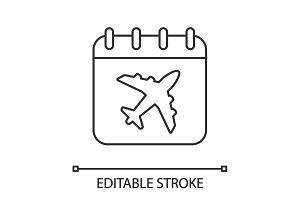 Flight date linear icon