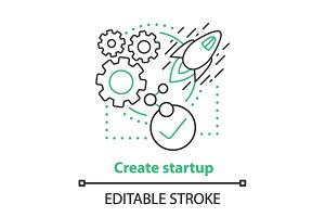 Startup creating concept icon