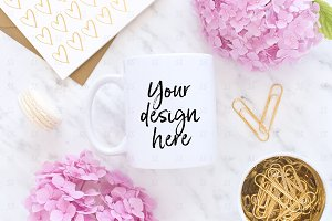 Coffee mug styled stock