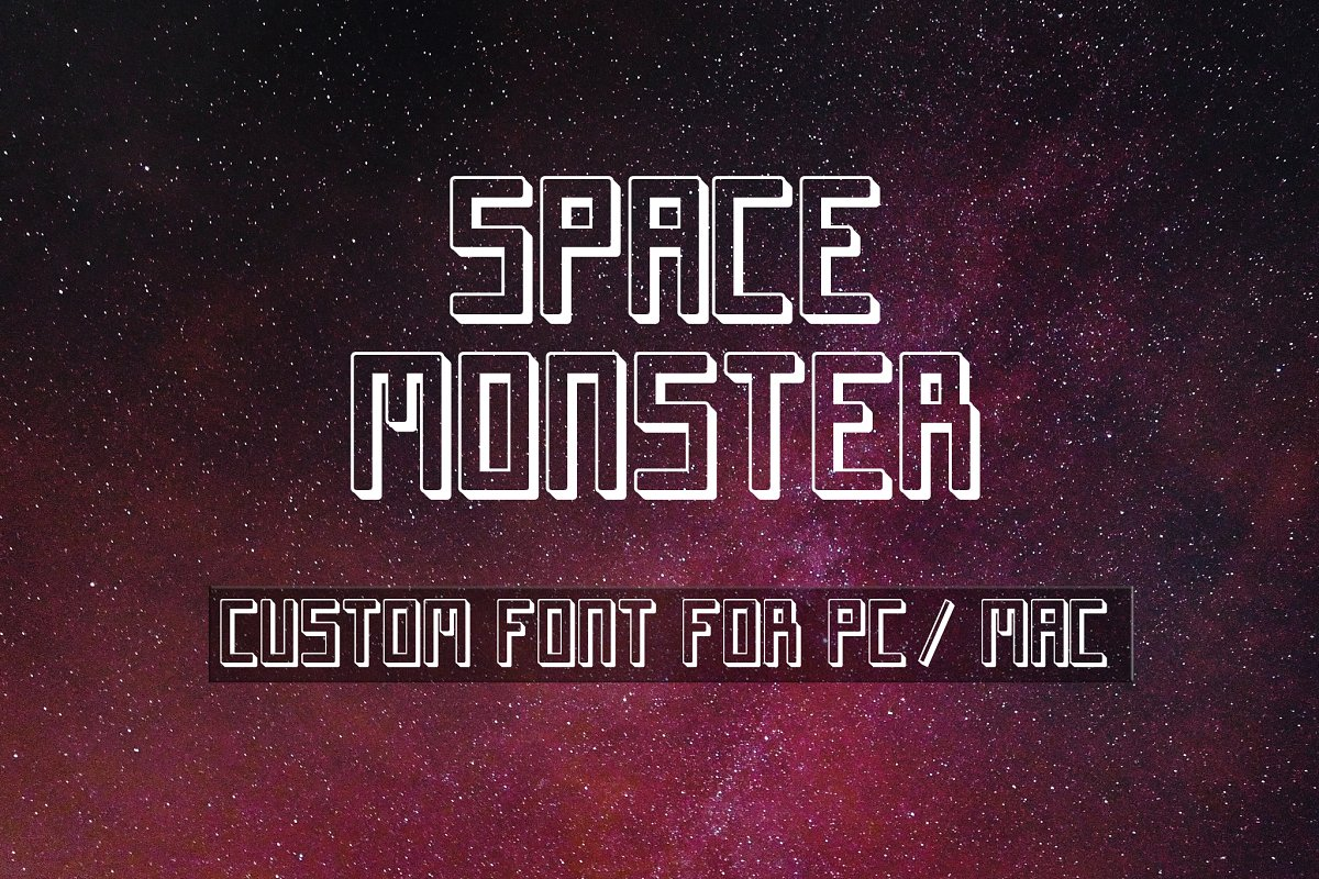 Space Monster Display Font
