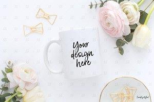 Coffe mug styled mockup