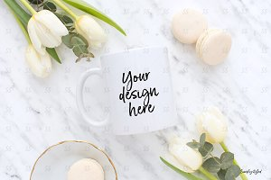 Coffee mug styled mockup