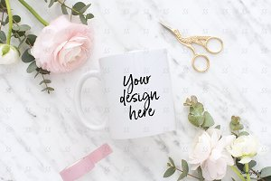 Coffee mug styled stock mockup