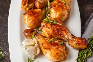Grilled spicy chicken legs