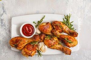 Grilled spicy chicken legs
