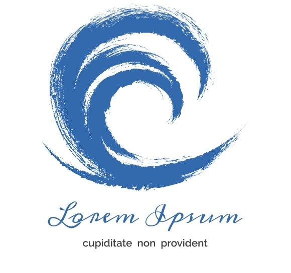 grunge circle wave logo logo templates creative market