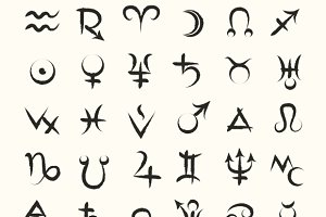 Vector Astrological Symbols