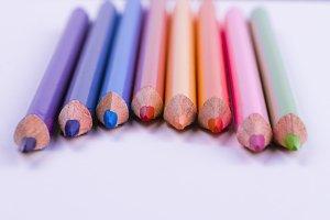 Crayons macro view