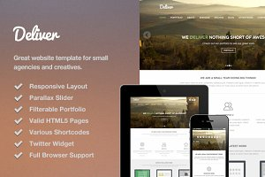 Deliver Responsive HTML Template