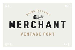 Merchant - Vintage Dry Brush Font