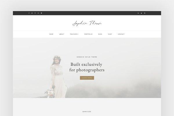 WordPress Photography Themes: herpark - Sophie - Portfolio / eCommerce Theme