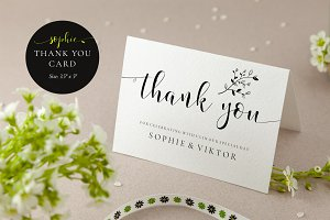 Wedding Thank You Card, Sophie