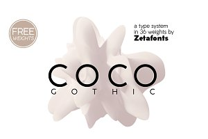 Coco Gothic - 36 fonts