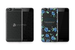 HTC A9s UV TPU Clear Case Mockup