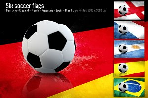 Soccer National team flags