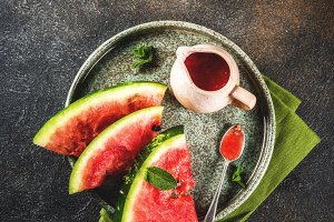 Sweet and sour watermelon sauce