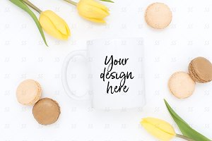 Coffee mug styled stock photography