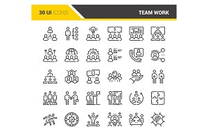 Team Work Icons