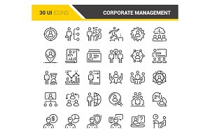 Corporate Management Icons