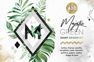 -40%Sale! Majestic Green. Giant Kit.