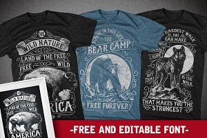 3 Wild and Free Animals T-shirt