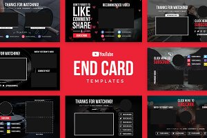 YouTube End Card Templates