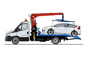 Vector tow truck template