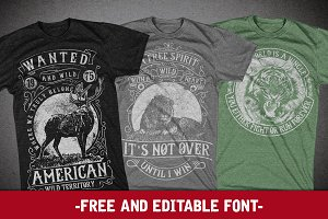 3 Wild Animal Tshirt Designs