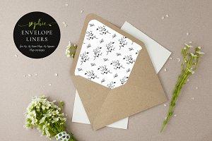 Printable Envelope Liner, Sophie