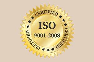 ISO 9001:2008 badges