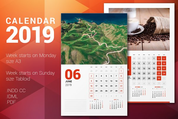 Wall Calendar 2019 + calendar poste…
